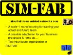 sim fab is an added value for you