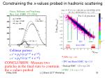 constraining the x values probed in hadronic scattering