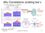 dau correlations probing low x