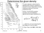 determining the gluon density
