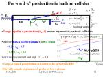forward p 0 production in hadron collider