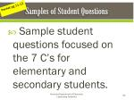samples of student questions
