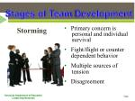 stages of team d evelopment