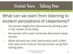 student voice talking pens