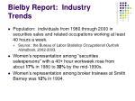 bielby report industry trends