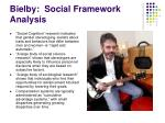 bielby social framework analysis