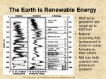 the earth is renewable energy