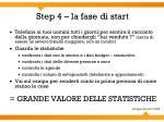 step 4 la fase di start