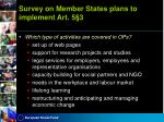 survey on member states plans to implement art 5 32