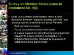 survey on member states plans to implement art 5 34