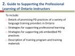 2 guide to supporting the professional learning of ontario instructors