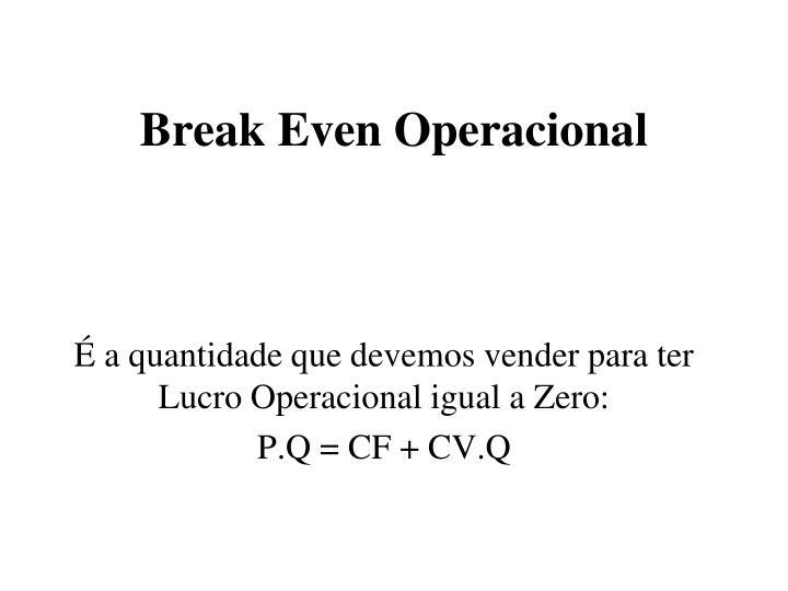 Break Even Operacional