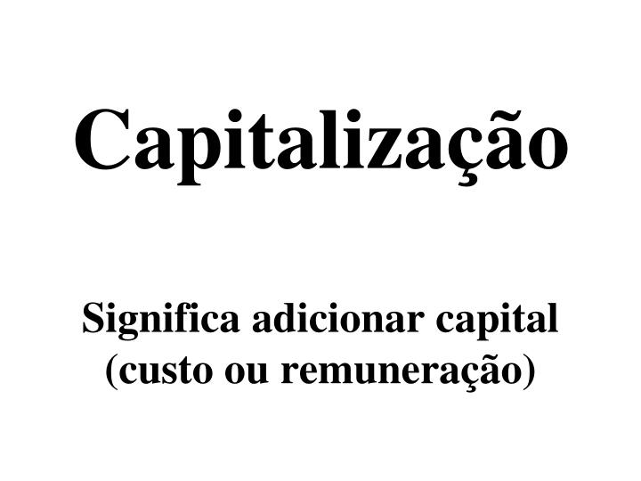 Capitalização