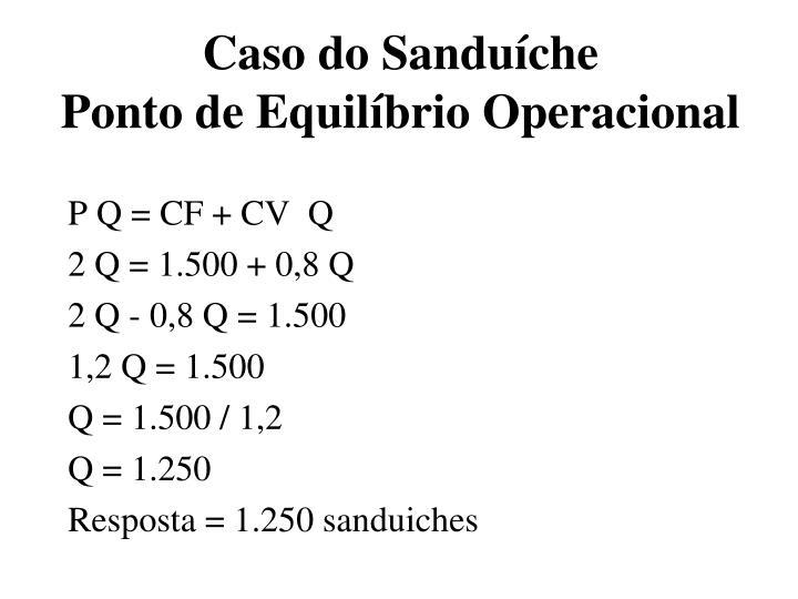 Caso do Sanduíche