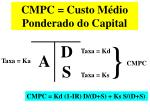 cmpc custo m dio ponderado do capital