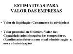 estimativas para valor das empresas2
