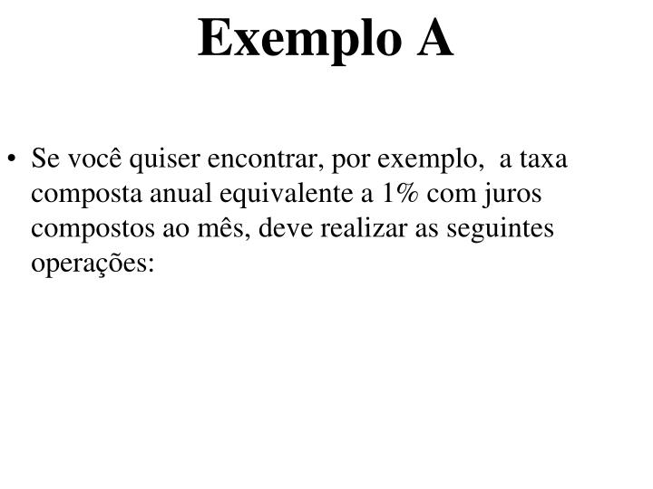 Exemplo A