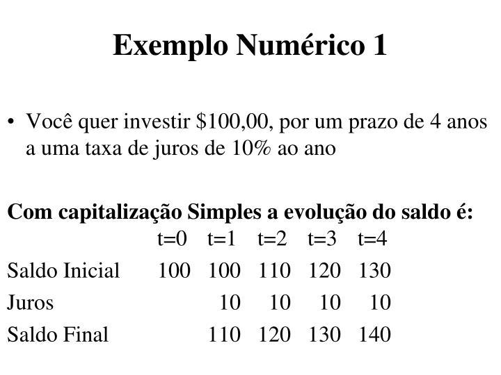 Exemplo Numérico 1