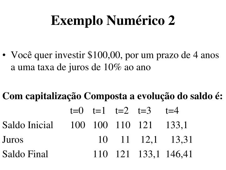 Exemplo Numérico 2
