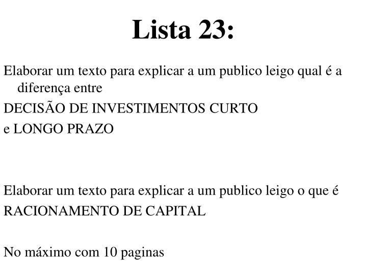 Lista 23: