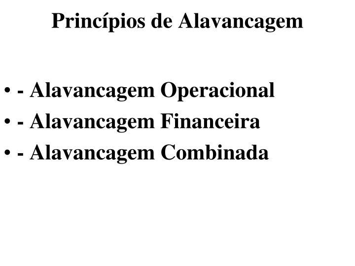 Princípios de Alavancagem