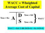 wacc wheighted average cost of capital
