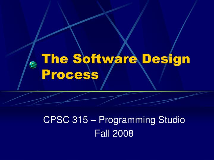 the software design process n.