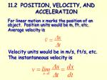 11 2 position velocity and acceleration