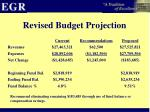 revised budget projection1