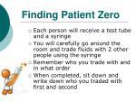 finding patient zero