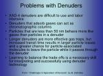 problems with denuders