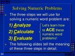 solving numeric problems1