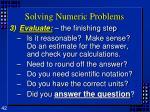 solving numeric problems4