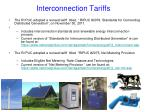 interconnection tariffs