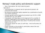 norway s trade policy and domestic support