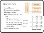neutral fats