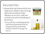 saturated fats