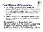 four stages of resistance1