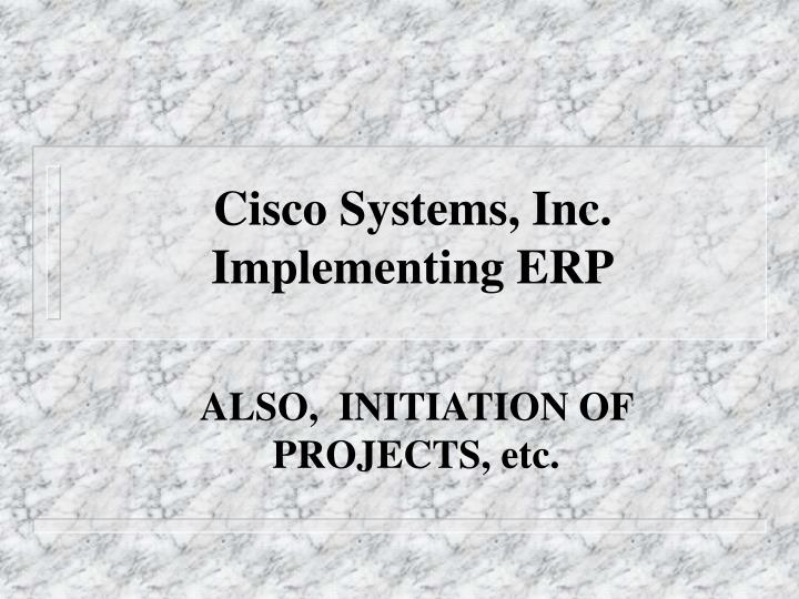 cisco systems inc implementing erp n.