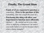 finally the grand slam