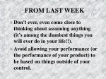 from last week1