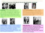 african americans who played roles in the civil rights movement