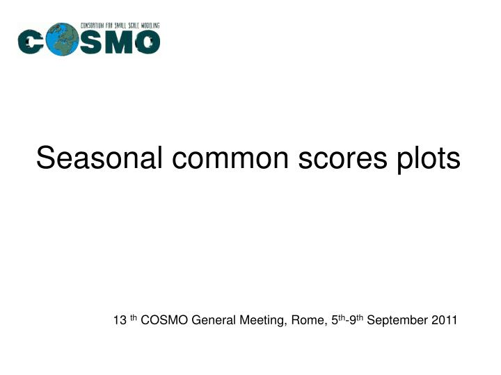 seasonal common scores plots n.