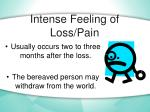 intense feeling of loss pain