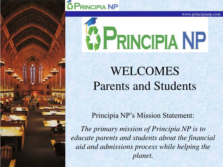 welcomes parents and students n.