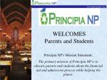 welcomes parents and students