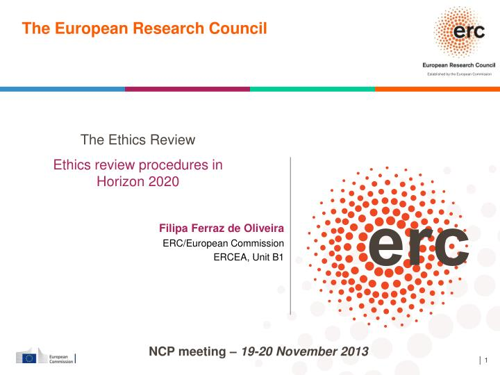 the european research council n.