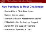 new positions to meet challenges