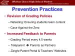 prevention practices