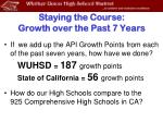 staying the course growth over the past 7 years